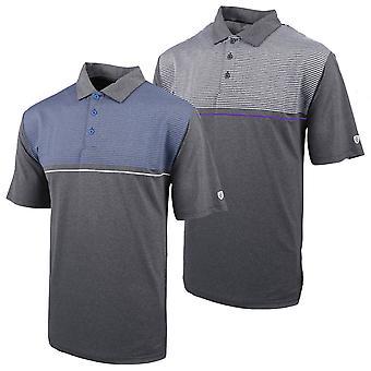 Island Green Mens 2020 IGTS1948 Stripe Marl Wicking Golf Polo Shirt