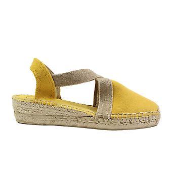 Toni Pons Verdi-V Yellow Fabric Womens Pull On Espadrille Shoes