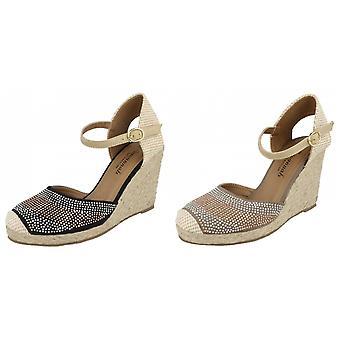 Savannah dam/dam pärla detalj Wedge sandaler