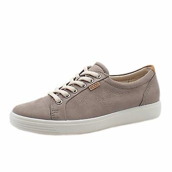 ECCO 430003 Soft 7 Dames Sneaker in warm grijs