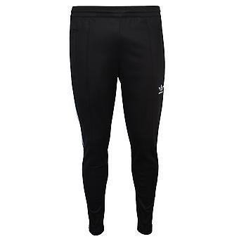 Adidas men's black beckenbauer trackpants