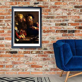 Caravaggio - Vocazione di San Matteo Poster Print Giclee