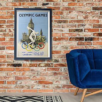 London Olympics 1948 Poster Print Giclee