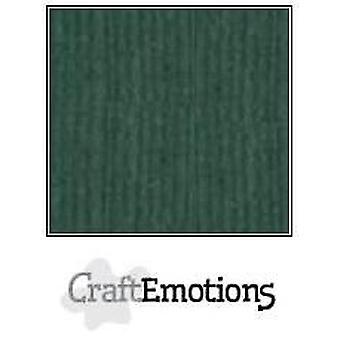 CraftEmotions linen cardboard 10 Sh emerald 30,0x30,0cm / LC-62