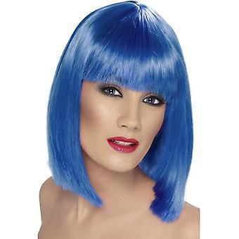 Glam paryk, blå