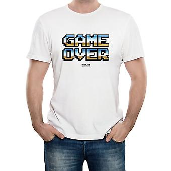 Reality glitch game over retro 80's mens t-shirt
