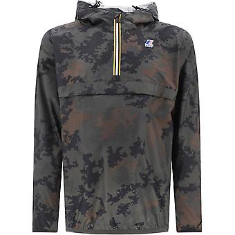 K-way K008670900 Men's Camouflage Polyester Outerwear Jacket