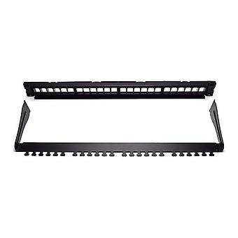 24-poorts UTP-categorie 5e/6/6e patch panel WP WPC-PAN-BUP24 zwart