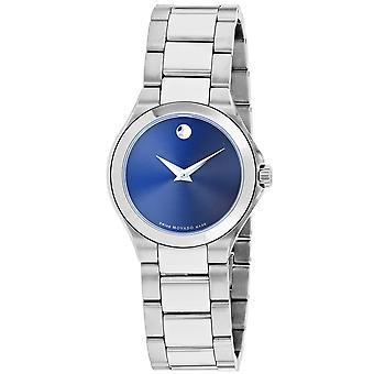 Movado Women's Classic Blue Dial Watch - 607309