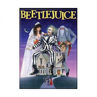 Beetlejuice Film Poster kardierte Magnet
