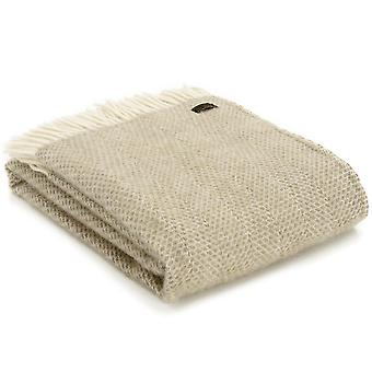 Tweedmill Pure New Wool Beehive Oatmeal Throw