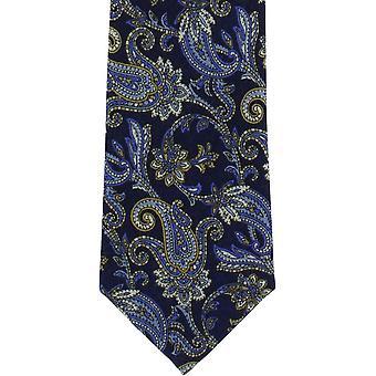 Michelsons di Londra Paisley cravatta in lana - blu