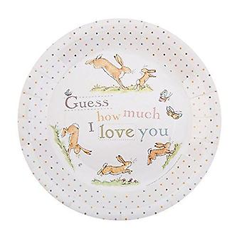 Guess How Much I Love you Paper Plates Birthday / Christening Pack of 8