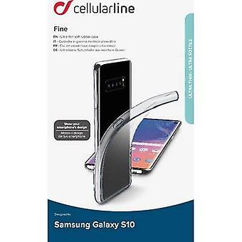 Cellularline Fine TPU Back cover Samsung Galaxy S10 Transparent