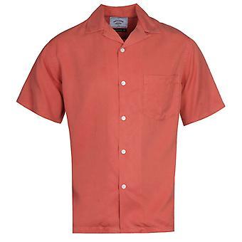 Portuguese Flannel Dogtown Cuban Collar Burnt Pink Short Sleeve Shirt