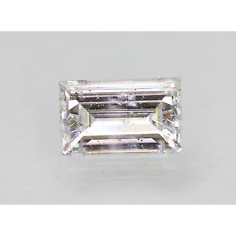 Certified 1.33 Carat D SI1 Baguette Enhanced Natural Loose Diamond 8.35x5.24mm