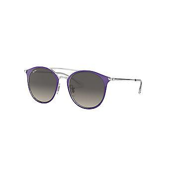 Ray-Ban Jnr RJ9545S 272/11 Silber Top violett/grau Farbverlauf Sonnenbrille