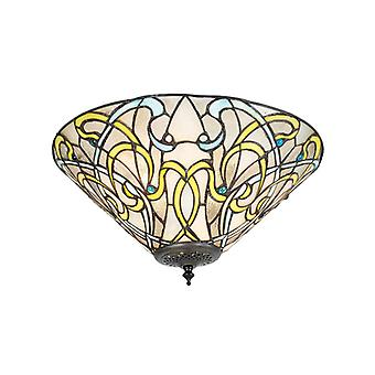 Dauphine Ceiling Light, Glass And Metal