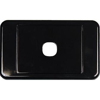1 Manier Australische Stijl Wall Plate Zwart