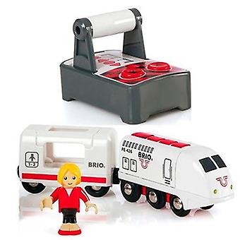 BRIO RC Travel Train 33510 Remote Controlled Wooden Railway Locomotive