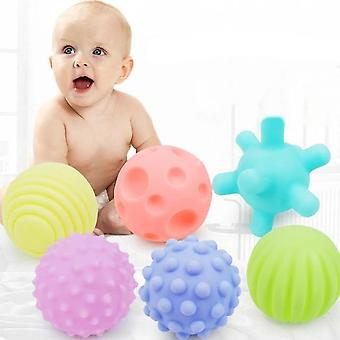 Baby Rubber Hand Ball Toys -textured Touch Ball For Sensory Fun, Bath Time