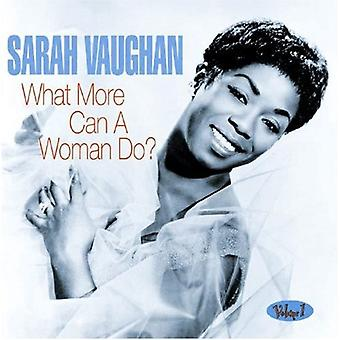 Sarah Vaughan - What More Can a Woman Do? [CD] USA import