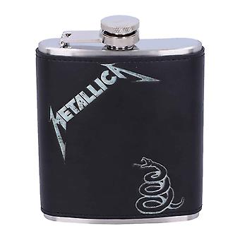 Metallica Hip Flask Black Album Snake Band Logo nouveau Black Metal officiel 7oz