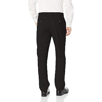 BUTTONED DOWN Men's Tailored Fit Stretch Wool Dress Pant, Black, 33W x 32L