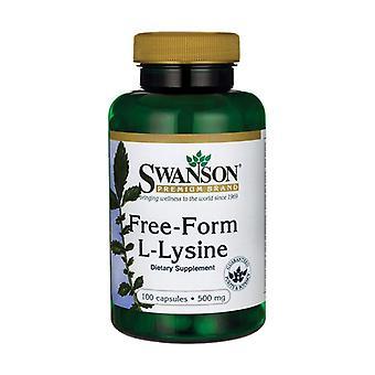 L-Lysine 500 mg Free-Form 100 capsules