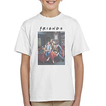 Amigos Sofá Retrato Kid's Camiseta