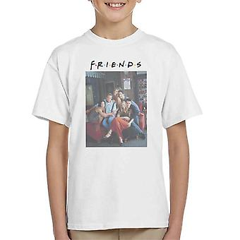 Friends Sofa Portrait Kid's T-paita