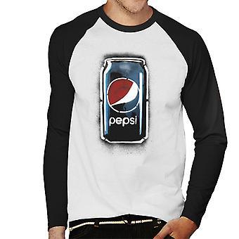 Pepsi Graffiti Can Men's Baseball Long Sleeved T-Shirt