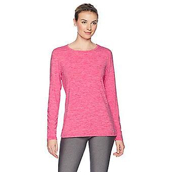 Essentials Women's Tech Stretch Long-Sleeve T-Shirt, Radiant Raspberry Heather, Large