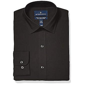 BUTTONED DOWN Men's Classic Fit Tech Stretch CoolMax Easy Care Dress Shirt, B...