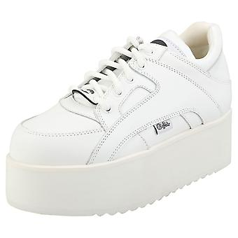 Buffalo London 1330-6 Womens Platform Trainers in White