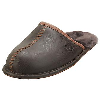 UGG Scuff Deco Mens Slippers Shoes in Stout