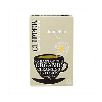 Organic dandelion infusion 20 infusion bags of 30g