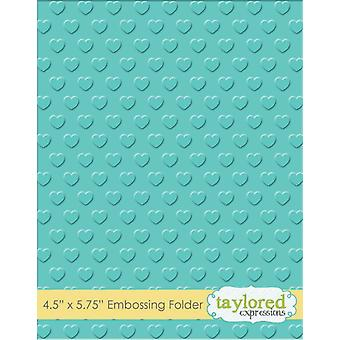 Taylored Expressions Swiss Hearts Embossing Folder