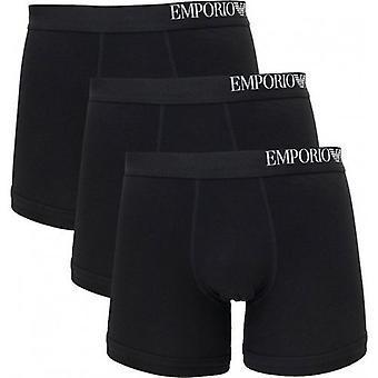 Emporio ארמני 3 חבילת לוגו צד בוקסר מכנסיים קצרים