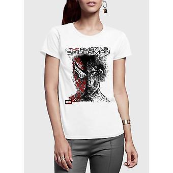 Spider man half sleeves women t-shirt