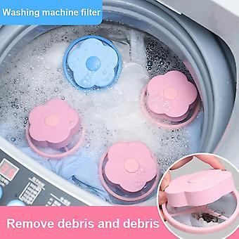 Washing Machine Filter Reusable Washing Machine Floating Lint Mesh Trap Bag Hair Catcher Filter Net Pouch Household Tool