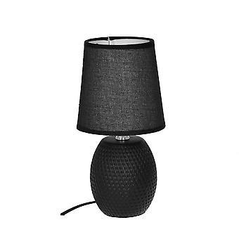 Table à lampe noir céramique H27 cm