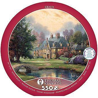 Puzzle - Ceaco - Thomas Kinkade - Lakeside Manor 550Pcs New 2414-2