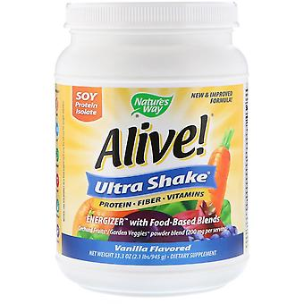 Nature's Way, Alive! Ultra-Shake, Vanille Aromatisée, 2,1 lb (945 g)