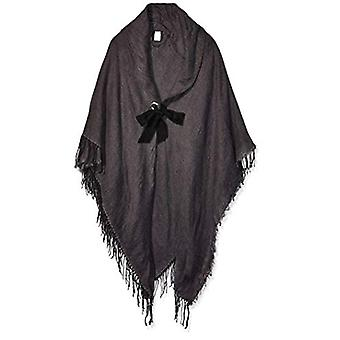 Collection XIIX Women's Heathered Shawl with Tie, Charcoal, Size One Size