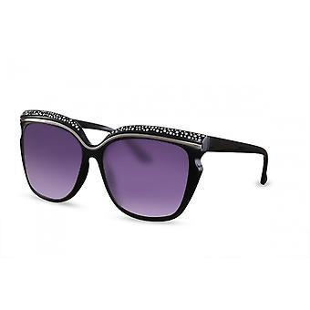 النظارات الشمسية المرأة فراشة كات. 3 أسود / فضة (CWI1565)