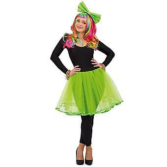 Tulle nederdel grønne damer kostume rock tutu danser ballet kostume damer karneval