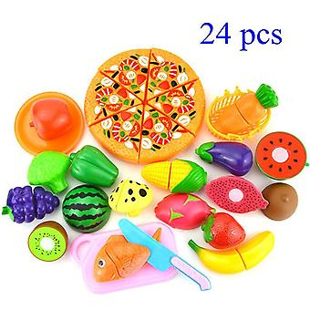 Pretend Play Plastic Food, Cutting Fruit Vegetable Food Pretend Play