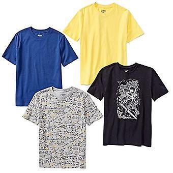 Brand - Spotted Zebra Boys' Toddler 4-Pack Short-Sleeve T-Shirts, Astr...