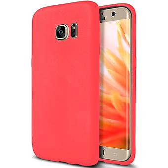Shell pour Samsung Galaxy S7 Edge Red Matte TPU Protection Case